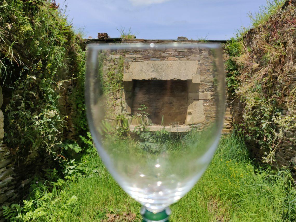 un verre dans lanature
