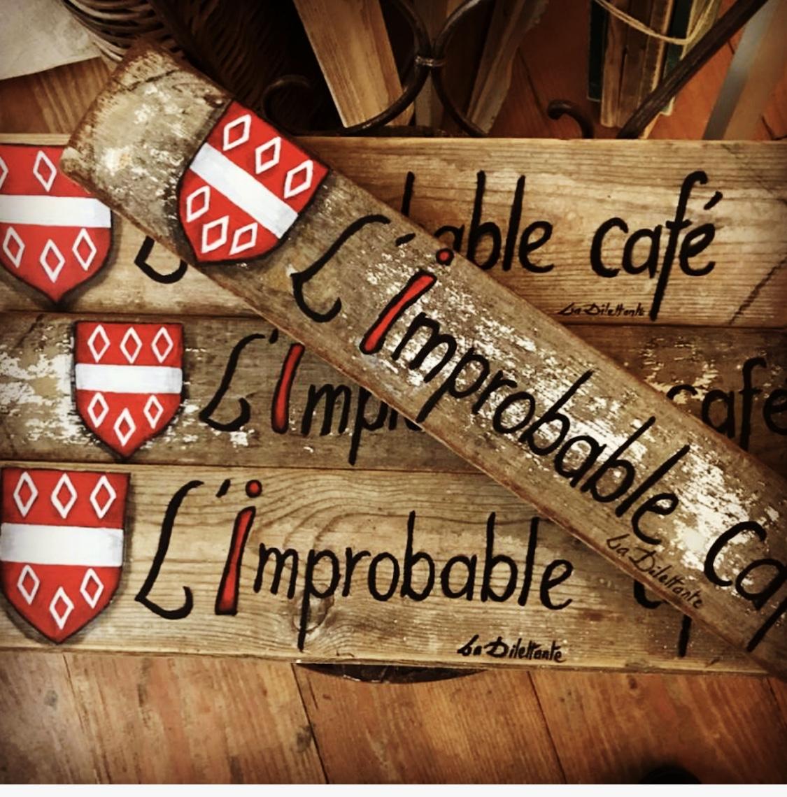 signalisation café l'improbable