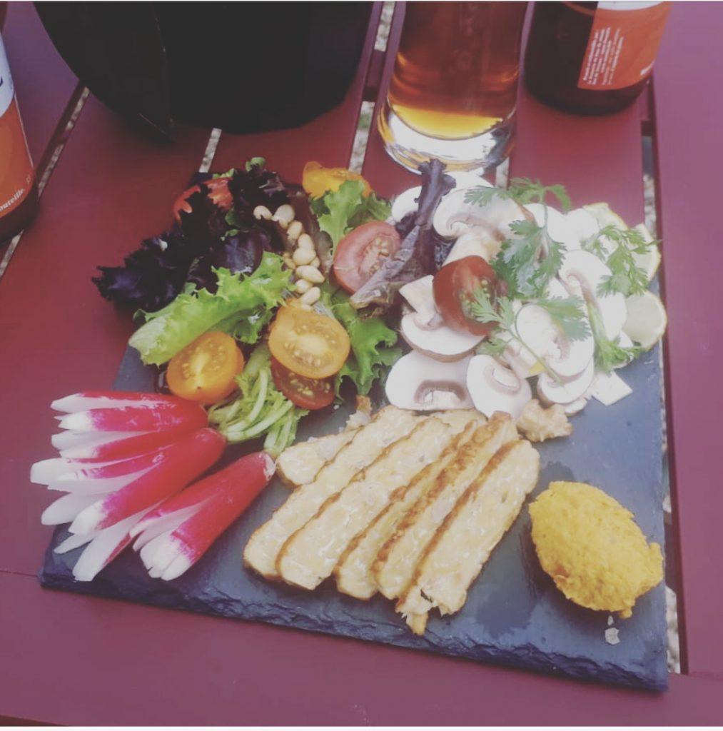 plateau repas salade