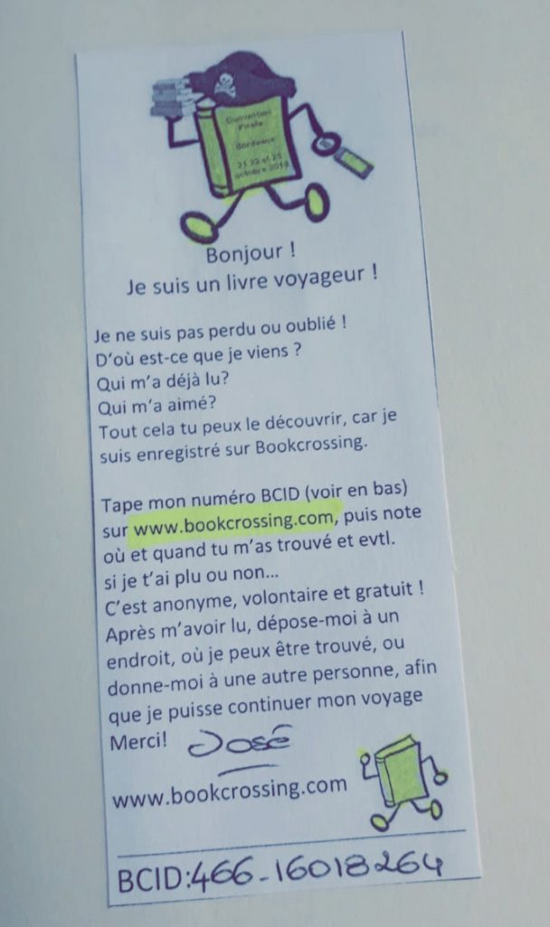 fiche explicative du bookcrossing